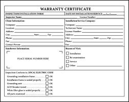 warranty certificate template pdf sample templates