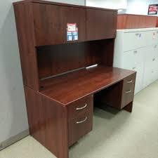 Small Office Reception Desk by Dmi Reception Desk U2013 Mocha Wt Right Hand Bf Hanging Pedestal