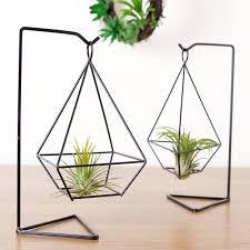 hanging air plant mkono air plant holder himmeli metal stand desktop planter for