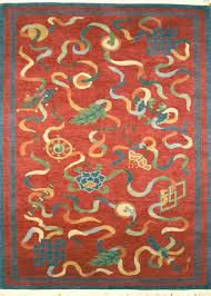 Modern Tibetan Rugs Gangchen Tibetan Wool Area Rug Auspicious Symbols A Rug