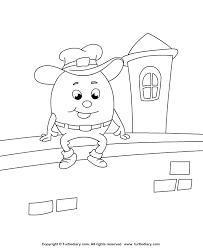 humpty dumpty coloring coloring