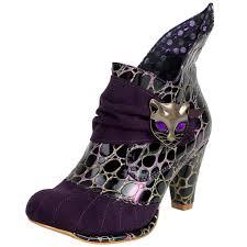 womens boots uk ebay irregular choice miaow purple gold leather womens hi ankle