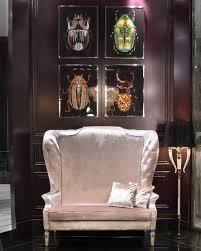 luxe italian designer swarovski crystal wall art scarabs so
