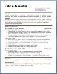 free resume template free resume template account manager using resume