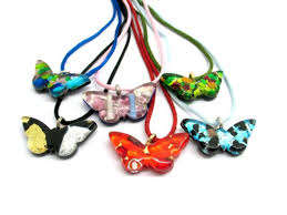 glass butterfly necklace images Murano glass butterfly pendant pemg0113 35x18 mm assorted