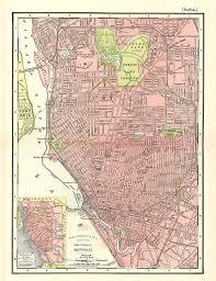map of buffalo new york unique gift or home decor a printable