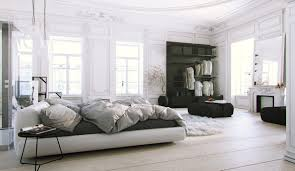 glamorous scandinavian bed design with low bed model beautiful