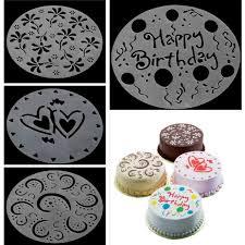 online shop 4pcs set 8 inch flower heart cake surface spray