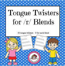 tongue twisters for r blends by the polka dotted slp tpt