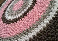 Crochet Rugs With Fabric Strips Crochet Rug Patterns With Fabric How To Crochet With Fabric Strips