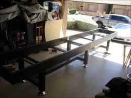 Shuffle Board Tables Diy Steel Shuffleboard Table Youtube