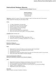 resume examples templates simple instructional design resume