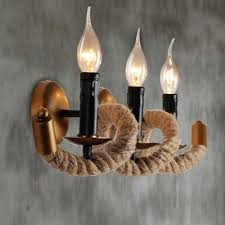 3 Light Sconce Wave Industry 3 Light Wall Sconce In Country Style