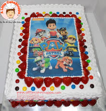 Paw Patrol A Little Cakeshoppe Singapore Customized 2d And 3d