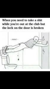 Public Bathroom Meme - what do you do when your using a public bathroom stall