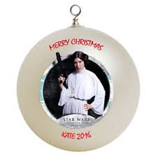 personalized wars princess leia ornament add your