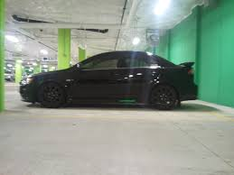 silver mitsubishi lancer black rims official wheels tires stance photo and spec thread evolutionm