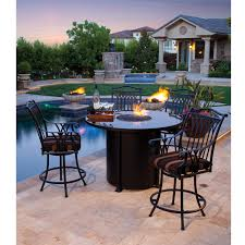Bar Height Fire Table Ow Lee Santorini 54 Inch Round Counter Height Fire Pit Table