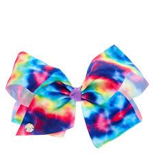 hair bow tie jojo siwa large rainbow tie dye signature hair bow s us