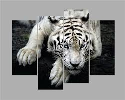 2017 of white tiger modern oil painting wall art printing home