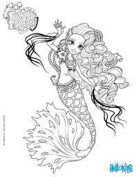 monster high freaky fusion sirena von boo coloring pages