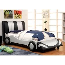 furniture of america speedster leatherette racecar bed hayneedle