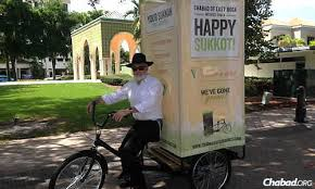portable sukkah wheels will travel adventures of a mitzvah cycle they