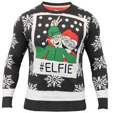 mens christmas jumper brave soul xmas santa elf hooded sweater pom