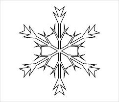 15 free snowflake template free printable word pdf jpeg