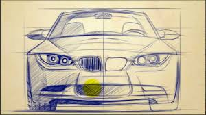 car design tutorials how to draw bmw 3 series front view youtube