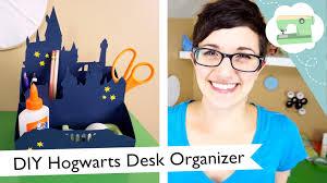 harry potter desk decor diy hogwarts desk organizer laurenfairwx youtube