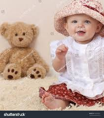 Bear On The Chair Little Child Baby Sitting On Stock Photo 107725820 Shutterstock