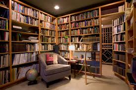 small home library home design