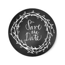 save the date stickers wreath save date stickers zazzle co uk