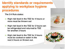 hygiene cuisine comply with workplace hygiene procedures