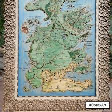 Map Of Westeros World by Buy Game Of Thrones Map Westeros Map Seven Kingdoms Map Ice And Fire