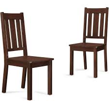Walmart Dining Room Furniture Better Homes And Gardens Bankston Dining Chairs Set Of Mocha
