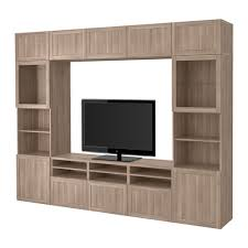 Ikea Besta Storage Combination With Doors And Drawers Bestå Tv Storage Combination Glass Doors Hanviken Sindvik Gray