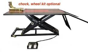 elevator 1800g golf cart lift table includes side extension kit