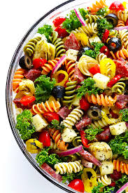 pasta slad rainbow antipasto pasta salad gimme some oven