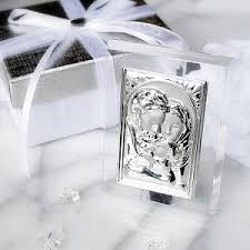 communion favors wholesale murano glass madonna and child blue plaque religious communion