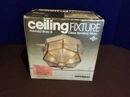 octagon ceiling light fixture new vintage polished brass beveled glass octagon 3 bulb ceiling