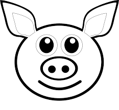 palomaironique pig face pink coloring book colouring sheet