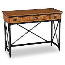 southern enterprises writing desk southern enterprises luther 2 drawer industrial writing desk with