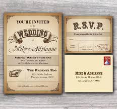 innovative western wedding invitations western country wedding