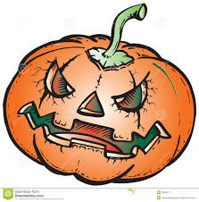 scary pumpkin illustration royalty free stock photography image