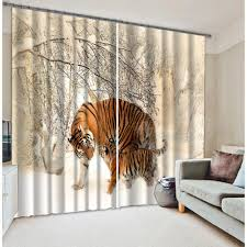 Curtains Printed Designs 2016 Lovely Tigers Curtains Designs For 3d Digital Printed