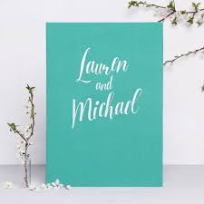 instax wedding guest book album teal blue with silver lettering