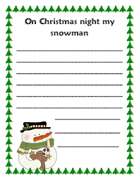 literacy minute snowmen at christmas writing prompts