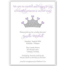 pretty princess purple baby shower invitation u2013 the invite lady